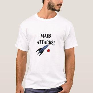 Mars Attacks! Spaceship Martians Red Planet Geek T-Shirt