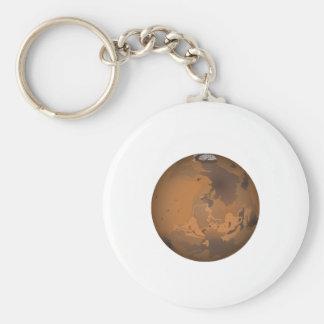Mars Basic Round Button Keychain