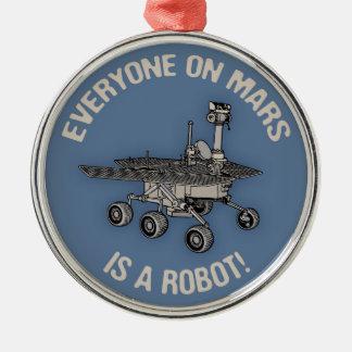 Mars Census Metal Ornament