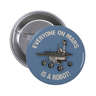 Mars Census Pinback Button