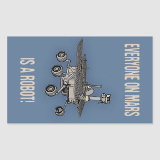 Mars Census Rectangular Sticker