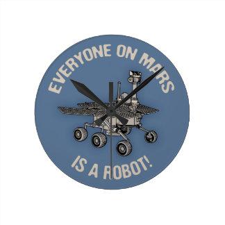 Mars Census Round Clock