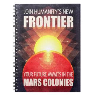 Mars Colonies Propaganda Illustration Spiral Notebook