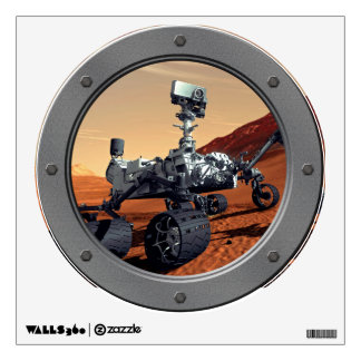 Mars Curiosity Rover Porthole Wall Sticker