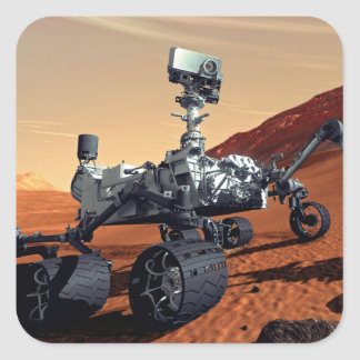Mars Curiosity Rover Square Sticker