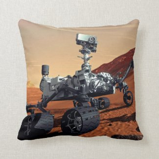 Mars Curiosity Rover Throw Pillow