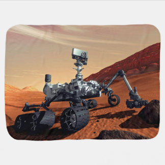 Mars Curiosity Rover Baby Blankets