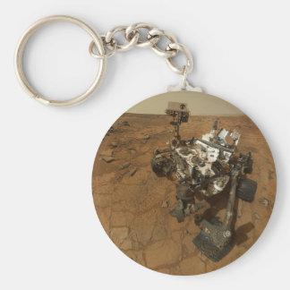 Mars Curiosity Self Portrait Basic Round Button Keychain