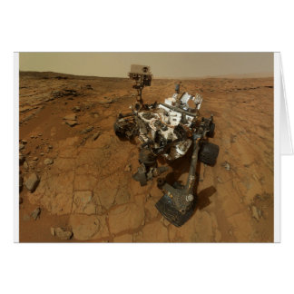 Mars Curiosity Self Portrait Card