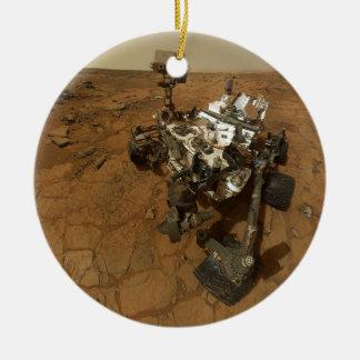 Mars Curiosity Self Portrait Ceramic Ornament