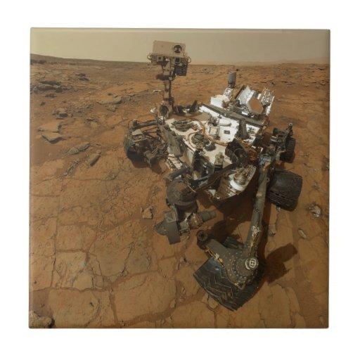 Mars Curiosity Self Portrait Ceramic Tiles