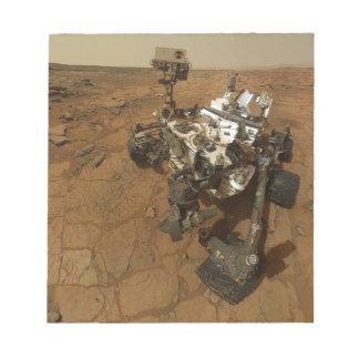 Mars Curiosity Self Portrait Notepad