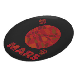Mars Dinner Lunch Party Plates