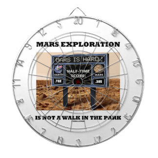 Mars Exploration Is Not A Walk In The Park (Sign) Dartboard