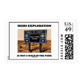 Mars Exploration Is Not A Walk In The Park (Sign) Stamps