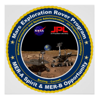 Mars Exploration Rover Mission Logo Poster