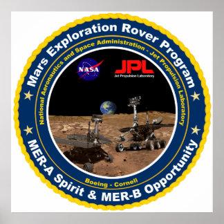 Mars Exploration Rover Mission Logo Print