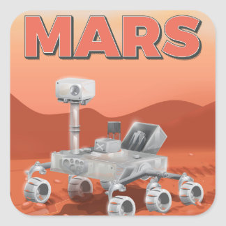 Mars Exploration Rover Square Sticker