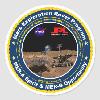 Mars Exploration Rovers: Spirit & Opportunity Classic Round Sticker