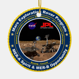 Mars Exploration Rovers: Spirit & Opportunity Double-Sided Ceramic Round Christmas Ornament