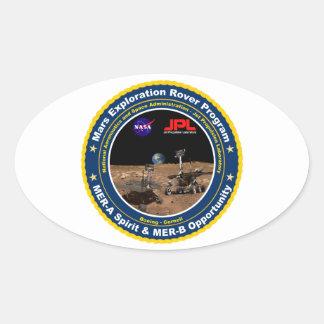 Mars Exploration Rovers: Spirit & Opportunity Oval Sticker