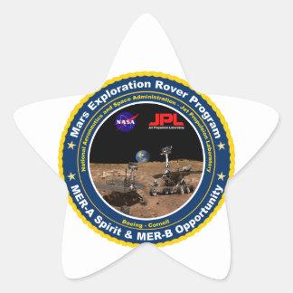 Mars Exploration Rovers: Spirit & Opportunity Star Sticker