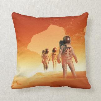 Mars Explorers Throw Pillow