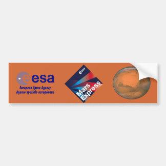 Mars Express del ESA Etiqueta De Parachoque