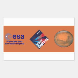 Mars Express del ESA Rectangular Pegatinas