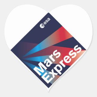 Mars Express del ESA Pegatina En Forma De Corazón