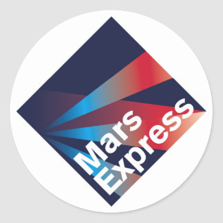 Mars Express Mission Patch Classic Round Sticker
