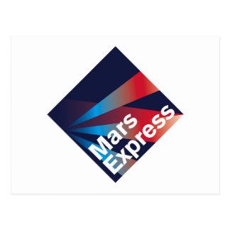 Mars Express Mission Patch Postcard