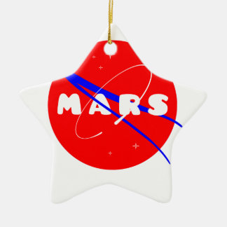 Mars Fictional Space Mission Double-Sided Star Ceramic Christmas Ornament