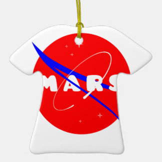 Mars Fictional Space Mission Double-Sided T-Shirt Ceramic Christmas Ornament