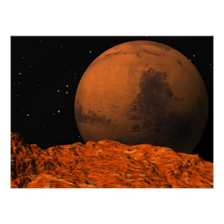 Mars from Phobos Poster