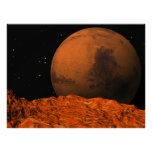 Mars from Phobos Posters