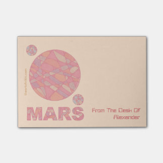 Mars Geek The Red Planet Personalized Notes Post-it® Notes