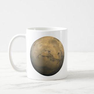 Mars Global Mosaic Classic White Coffee Mug