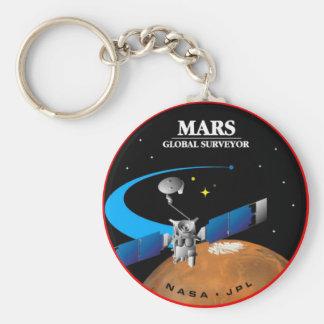 Mars Global Surveyor Basic Round Button Keychain