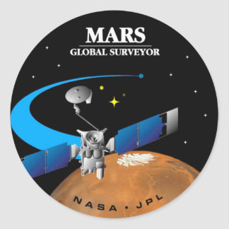 Mars Global Surveyor Classic Round Sticker