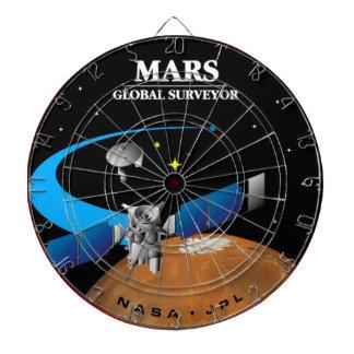 Mars Global Surveyor Dartboard With Darts