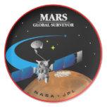 Mars Global Surveyor Dinner Plate