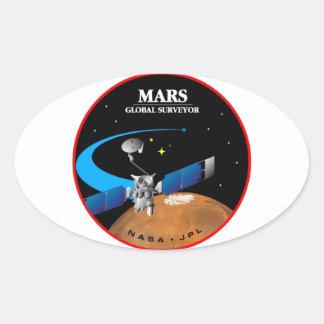Mars Global Surveyor Calcomania Oval