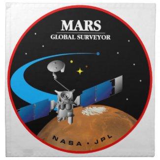 Mars Global Surveyor Printed Napkins