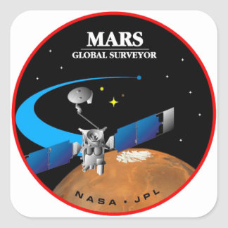 Mars Global Surveyor Sticker