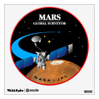 Mars Global Surveyor Wall Decal