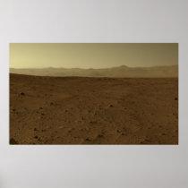 Mars Horizon via Curiosity Rover Posters