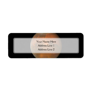 Mars (Hubble Telescope) Labels