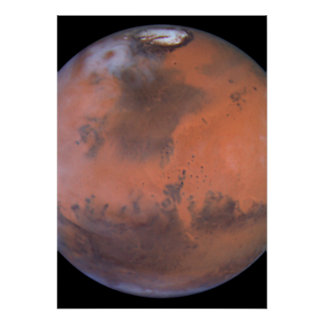 Mars Image Centered Near Location of Pathfinder Poster
