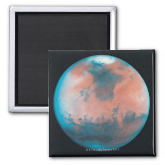 Mars in Opposition 2 Inch Square Magnet